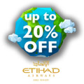 Save 20% On International Flights With Etihad